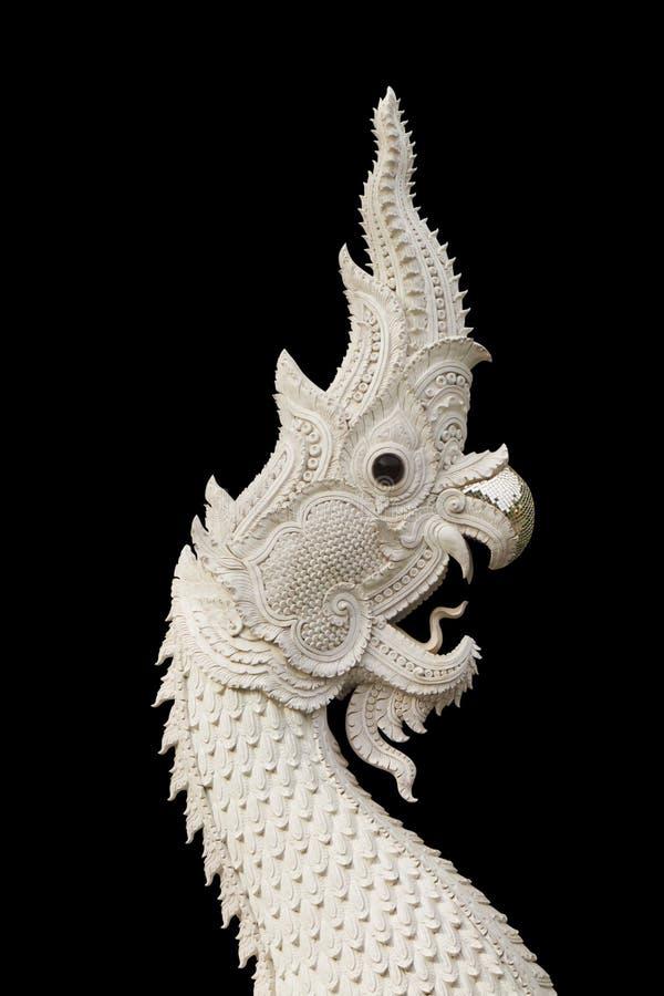 Naga, roi de serpent d'isolement sur le noir images libres de droits