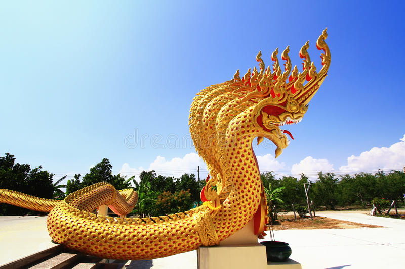 Download Naga statue stock image. Image of ornament, colorful - 25654525