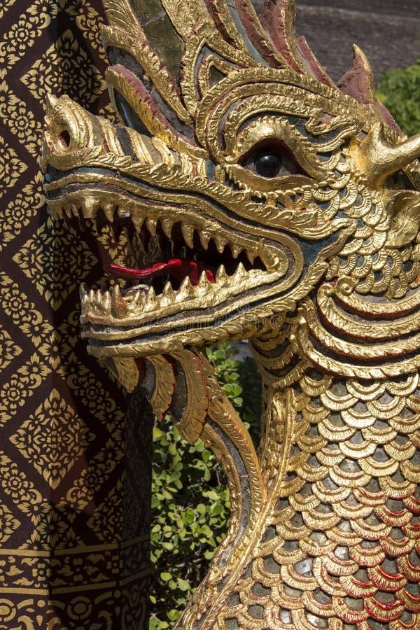 Naga - Wat Gate Karan - Chiang Mai - Thailand stock image