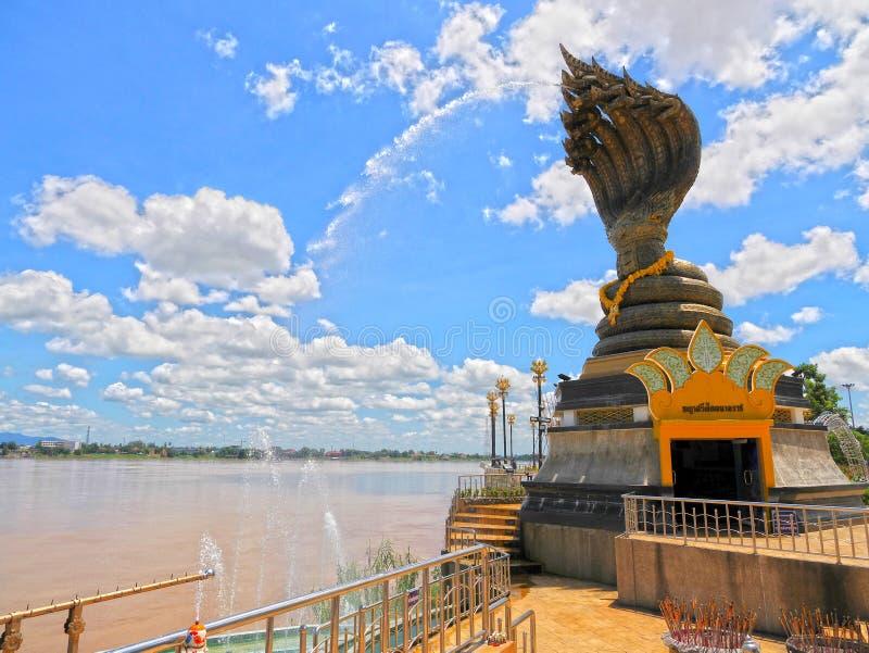 Nagaraj på Nakorn Phanom Thailand arkivfoto