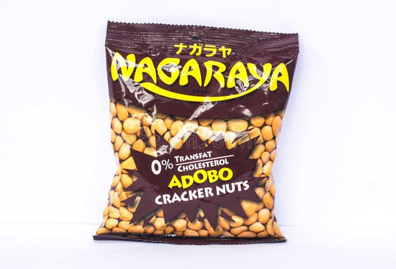 Nagaraya krakersu dokrętki fotografia stock