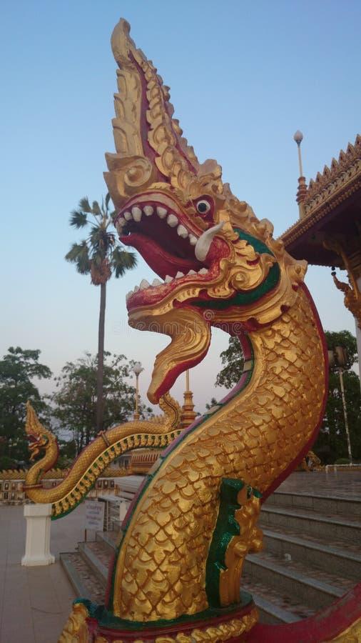 Nagas雕象的国王 免版税库存图片