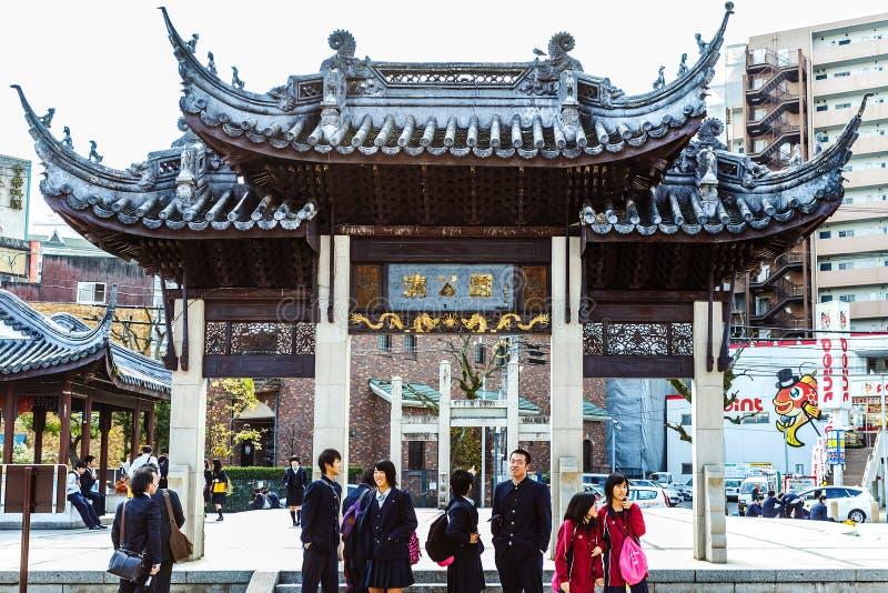 Nagasaki Chinatown stock image