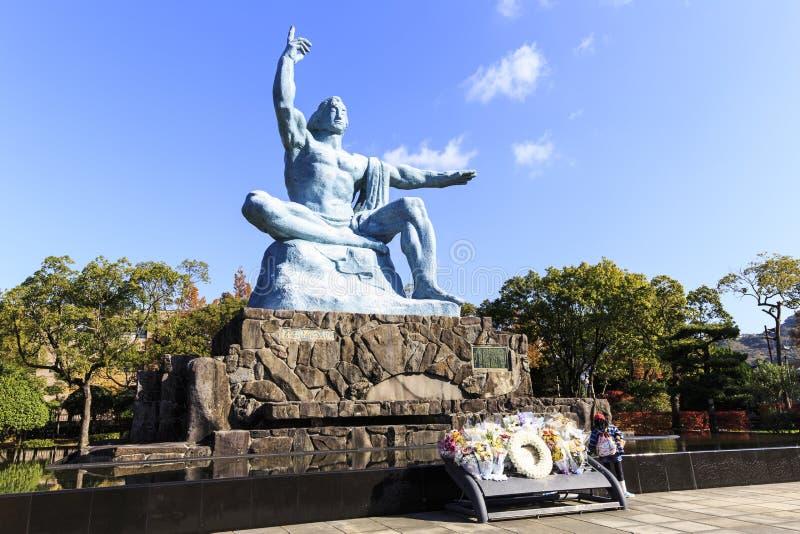 Nagasaki fred parkerar arkivfoton