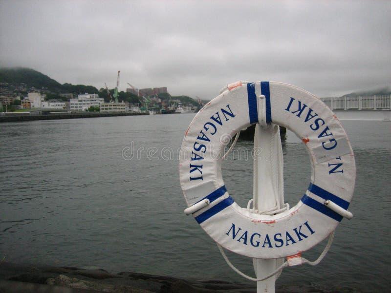 Nagasaki-Hafen stockbilder