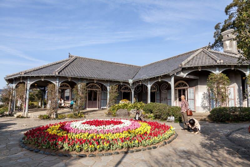 :Glover Garden is a park in Nagasaki, Japan built for Thomas Blake Glover, the oldest Western style house. NAGASAKI, JAPAN - MARCH 12,2017 :Glover Garden is a stock image