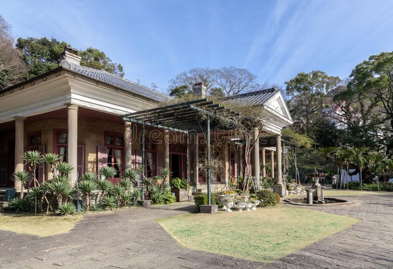 Glover Garden is a park in Nagasaki, Japan built for Thomas Blake Glover, the oldest Western style house. NAGASAKI, JAPAN - MARCH 12,2017 :Glover Garden is a royalty free stock photos