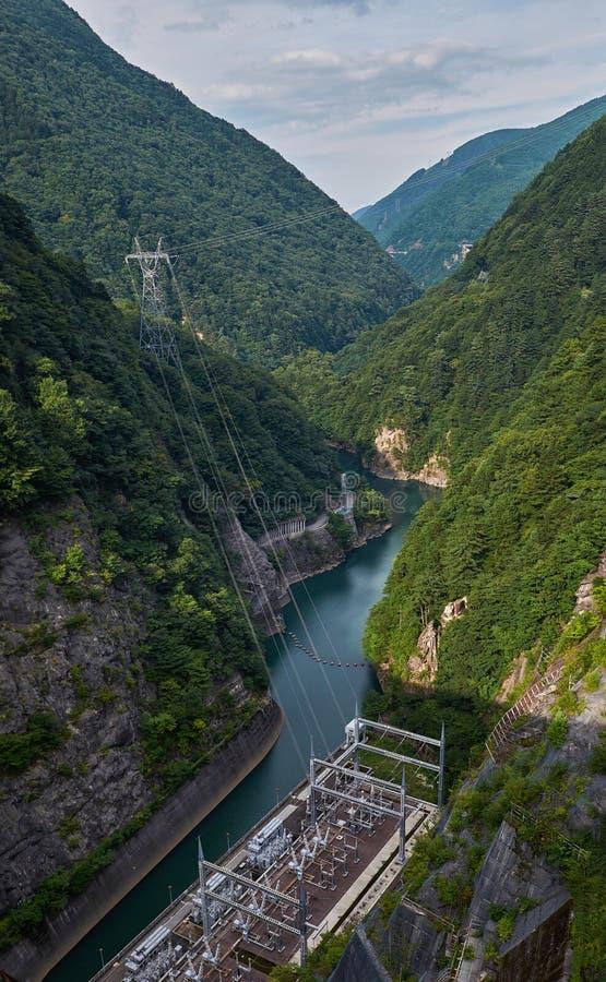 Nagawado Dam in Nagano Prefecture, Japan, 2017 stock images