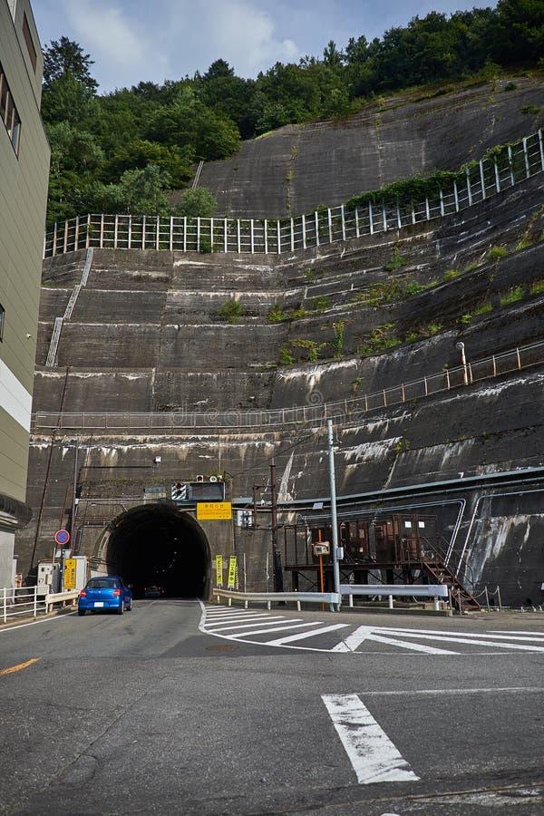 Nagawado Dam in Nagano Prefecture, Japan, 2017 stock photos