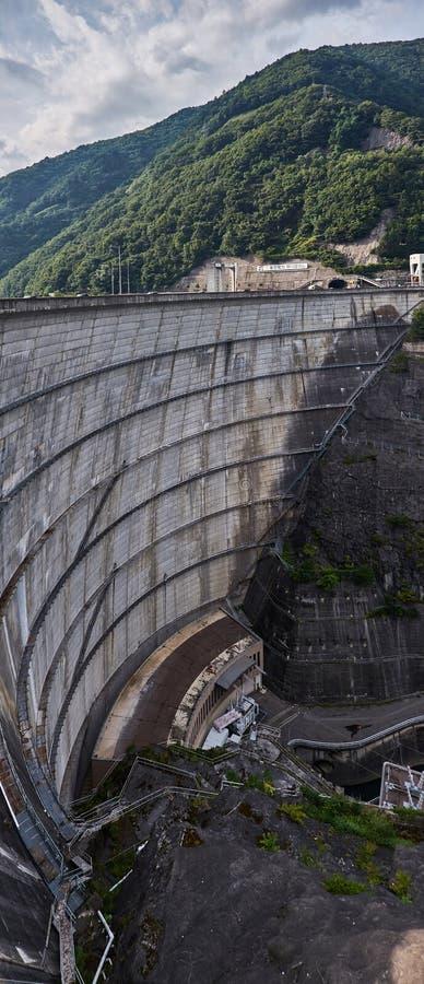 Nagawado Dam in Nagano Prefecture, Japan, 2017 stock photo
