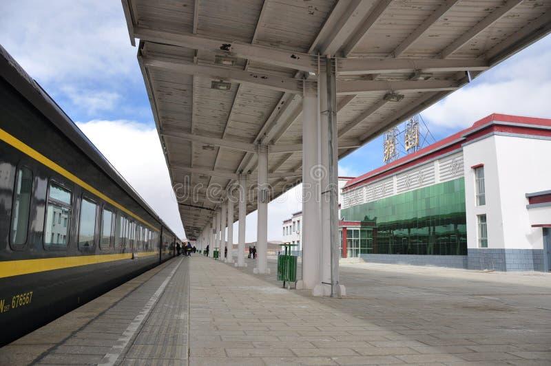 nagchujärnvägstation arkivbild