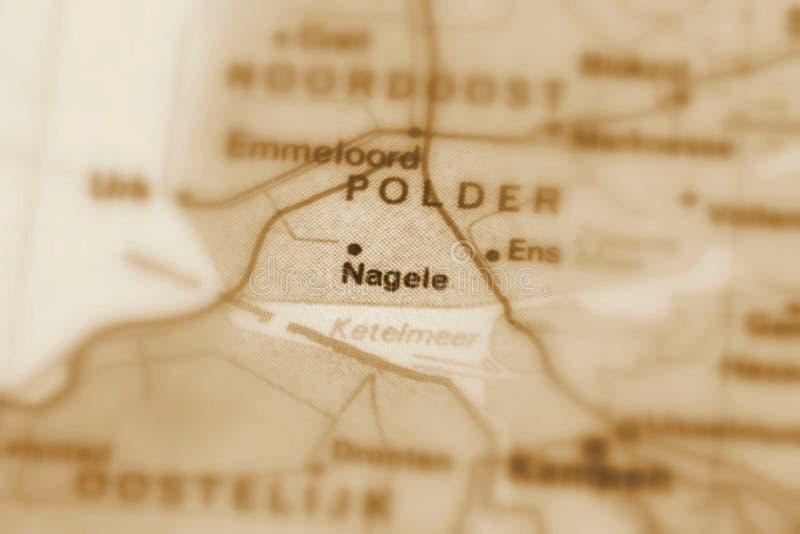 Nagele, uma cidade nos Países Baixos fotografia de stock royalty free