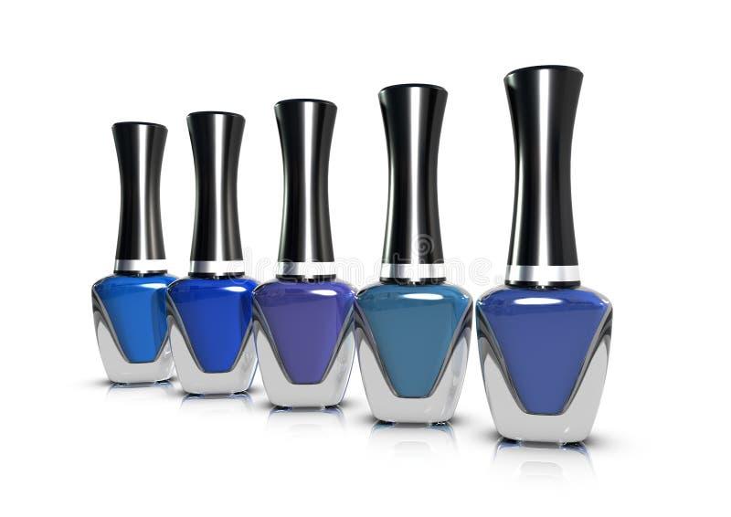 Nagellak - Blauwe waaier stock fotografie