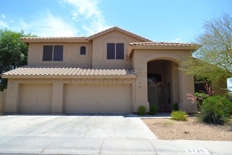 Nagelneues spanisches/südwestliches Art-Arizona-Traum-Haus stockbilder