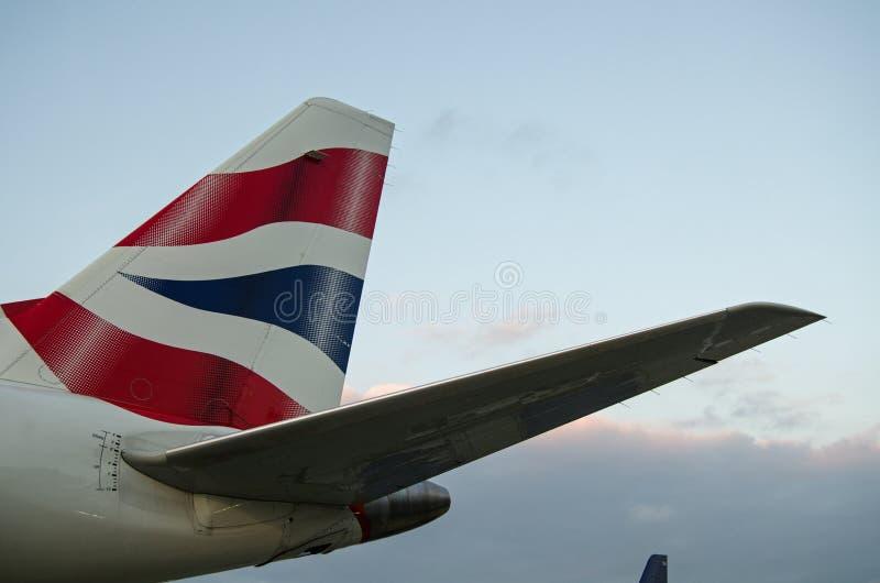 Nageoire caudale de British Airways image libre de droits