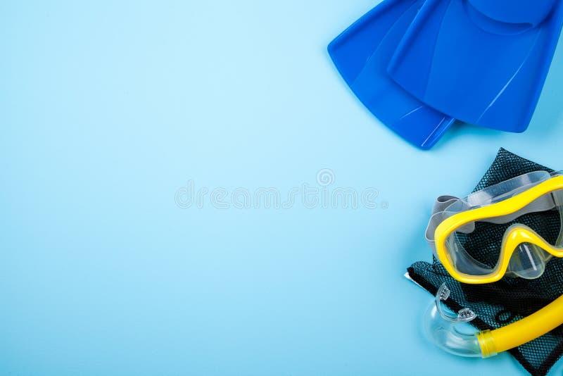 Nageoires bleues sur le fond de couleur images stock