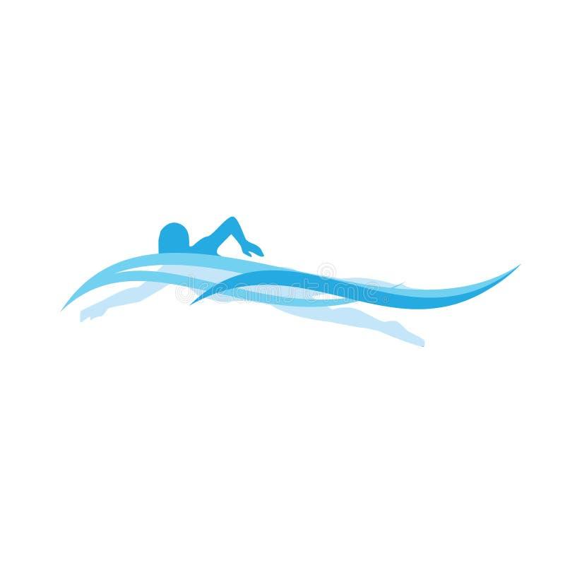 nageur illustration stock