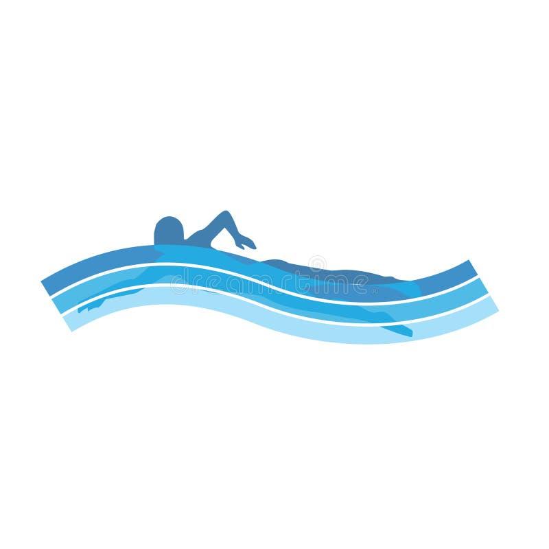 nageur illustration de vecteur
