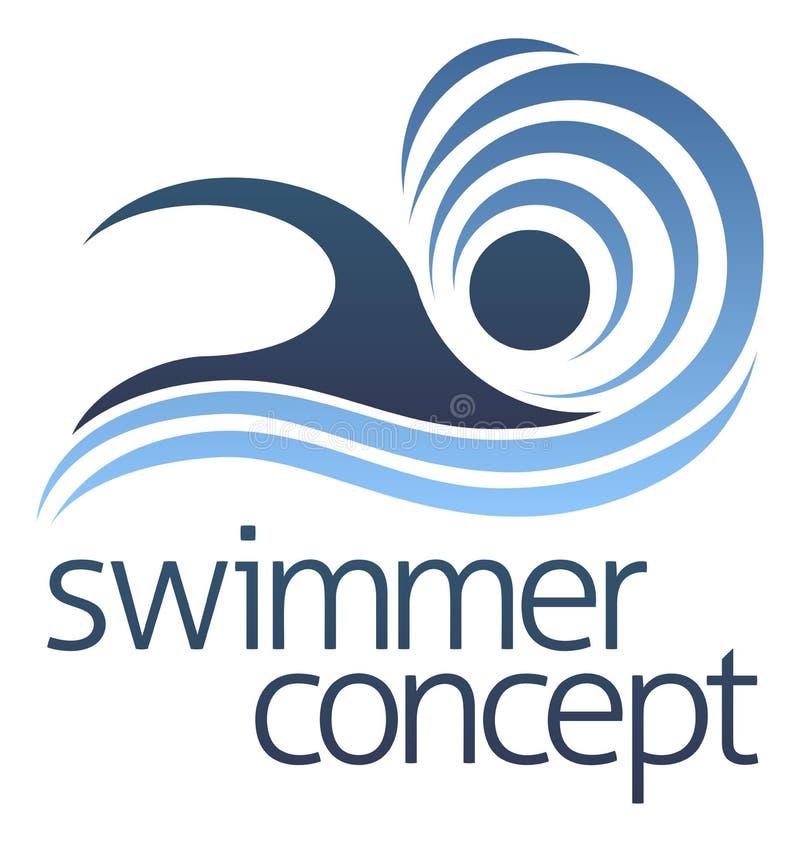 Nageur Concept de natation illustration libre de droits