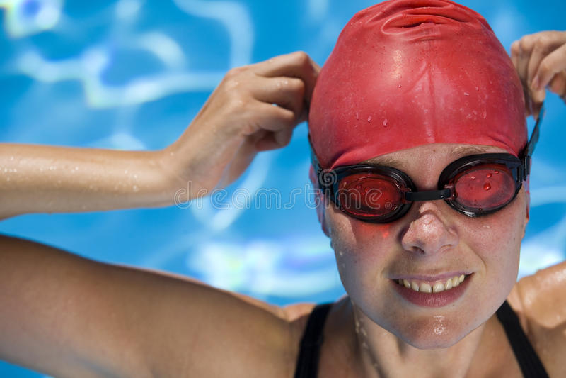 Nageur féminin images stock