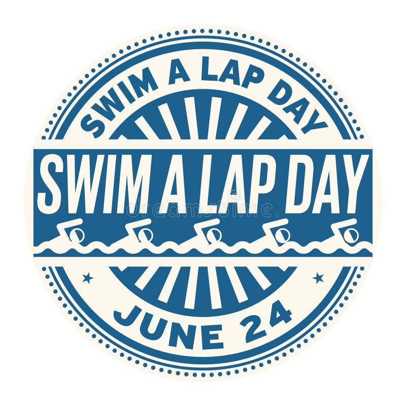 Nagez un timbre de Lap Day illustration stock