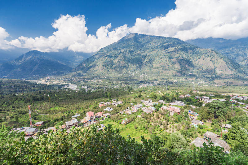 Naggar landscape royalty free stock photography