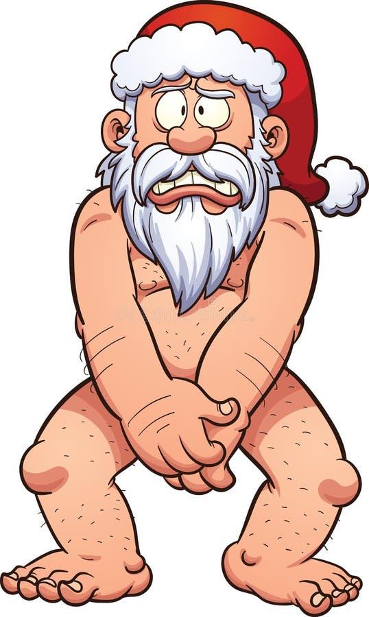 nagi Santa royalty ilustracja