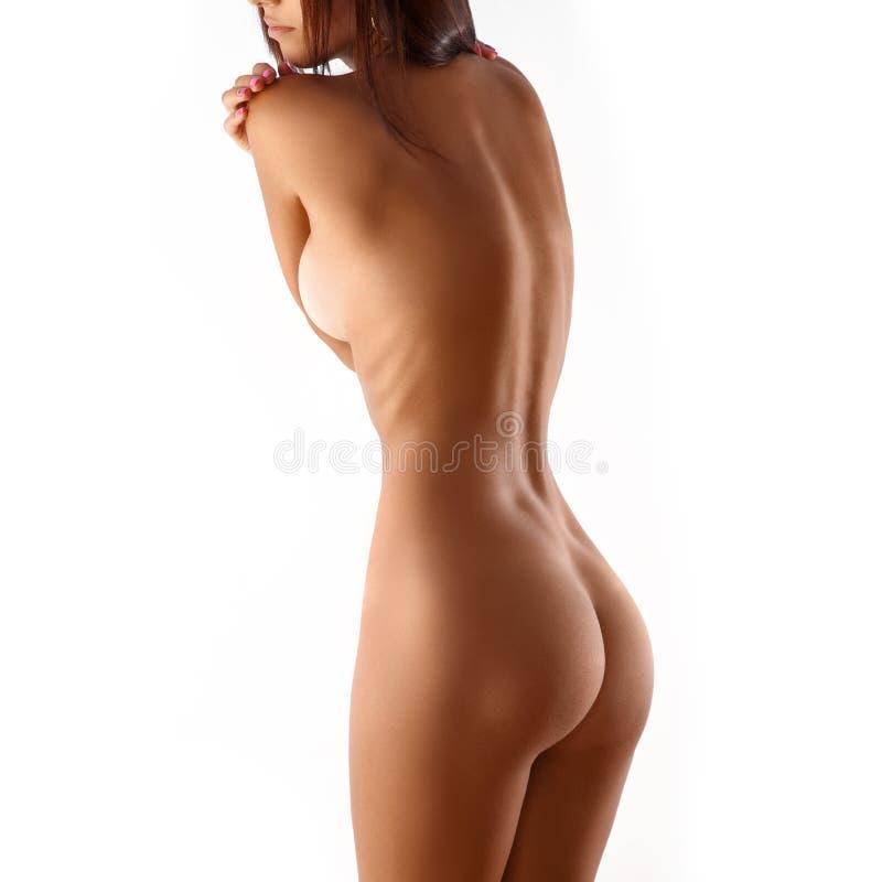 Download Nagiej Postaci Kobiety Szczupły Ciało Odizolowywający Na Białym Tle Zdjęcie Stock - Obraz złożonej z bielizna, kalorie: 57664074
