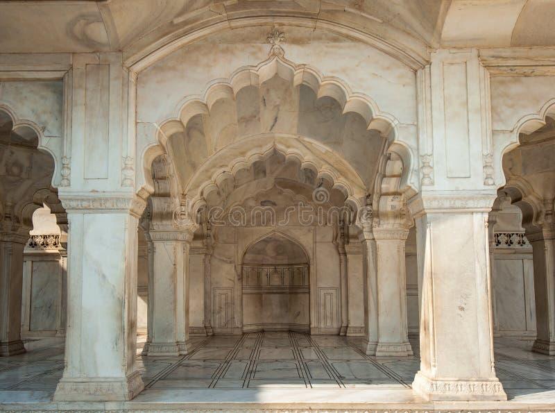 Nagina moské i det Agra fortet, Uttar Pradesh, Indien royaltyfri foto