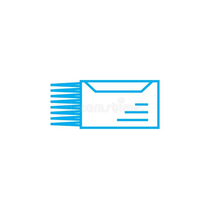 Naglącego listu ikony liniowy pojęcie Naglącego listu linii wektoru znak, symbol, ilustracja ilustracji