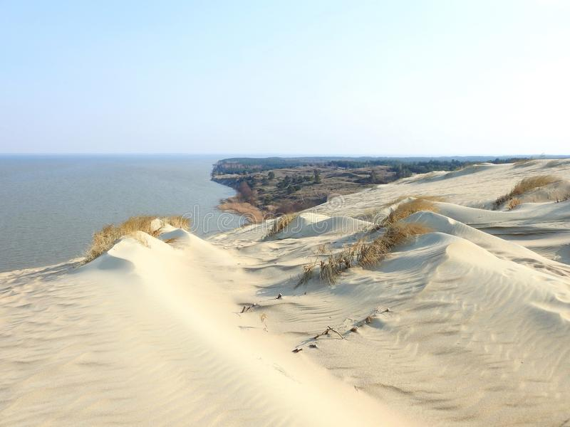 Nagliu dunes in Neringa, Lithuania royalty free stock photo