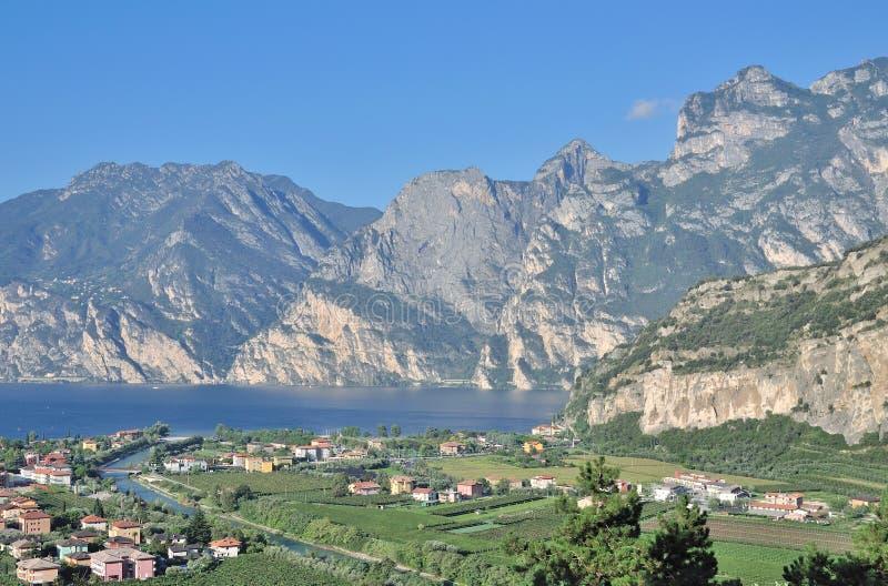Nago-Torbole, lago Garda, Itália fotos de stock royalty free