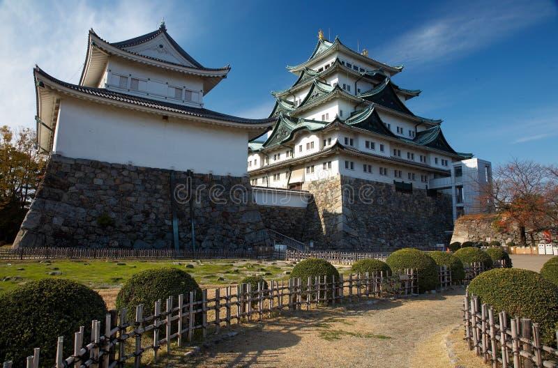 Nagoya Castle. Summer view of Nagoya Castle under blue sky. Japan stock image