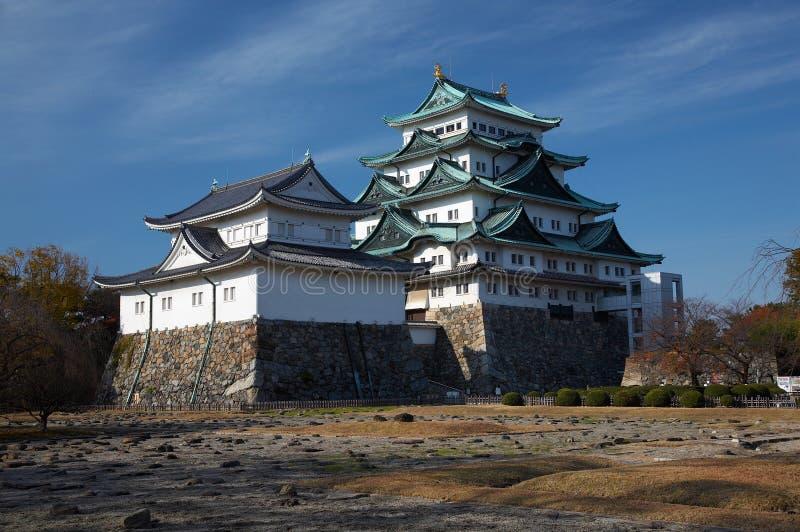 Nagoya Castle. Summer view of Nagoya Castle under blue sky. Japan royalty free stock photo