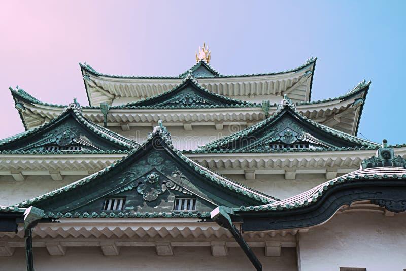 Nagoya Castle. A gable of Nagoya Castle in summer Japan stock photography