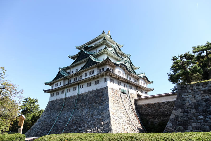 Nagoya castle, Japan. Nagoya castle in Nagoya city.,Japan royalty free stock images