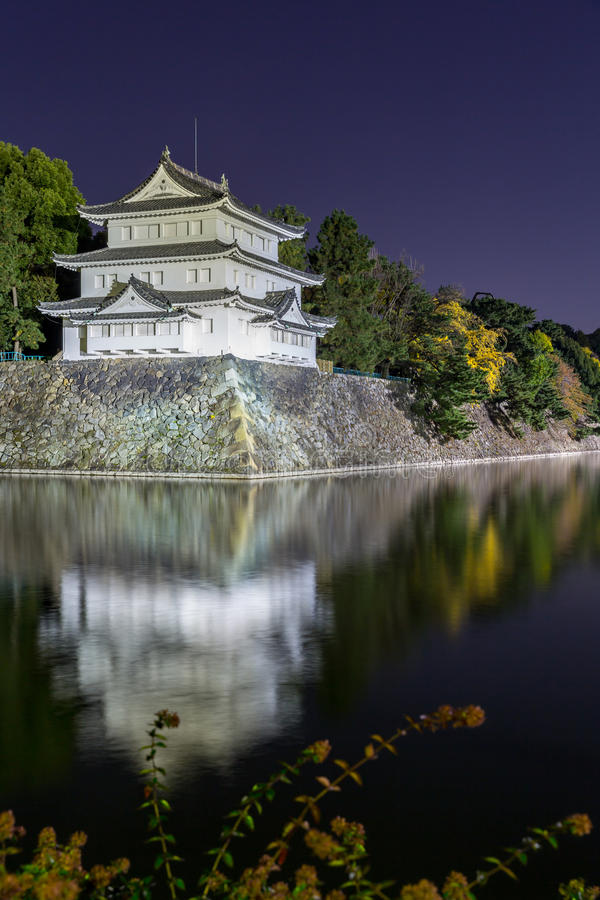 Nagoya Castle. Japan at night stock photography
