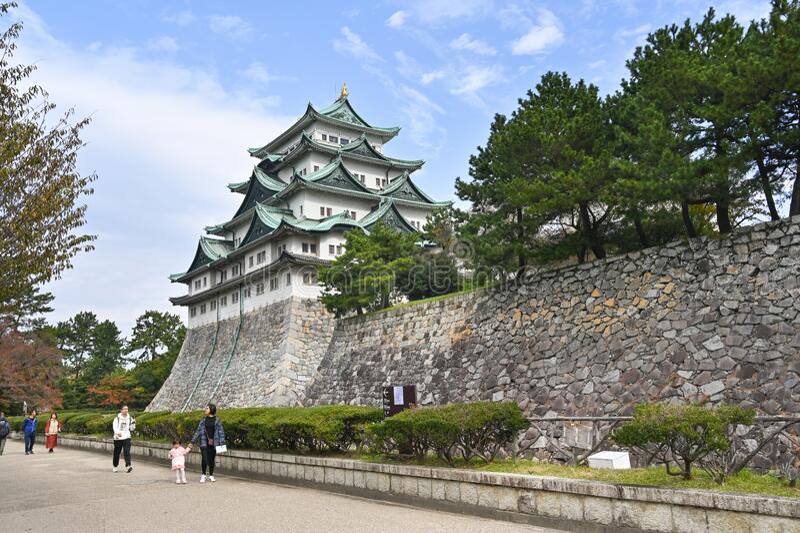 Nagoya castle, Nagoya, Japan royaltyfria bilder