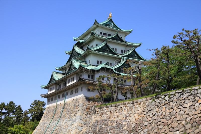 Nagoya Castle, Japan. Old landmark structure is listed as a Special Historic Site royalty free stock photography