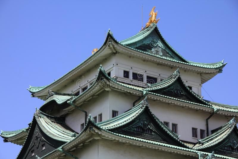 Nagoya Castle, Japan. Old landmark structure is listed as a Special Historic Site stock photo