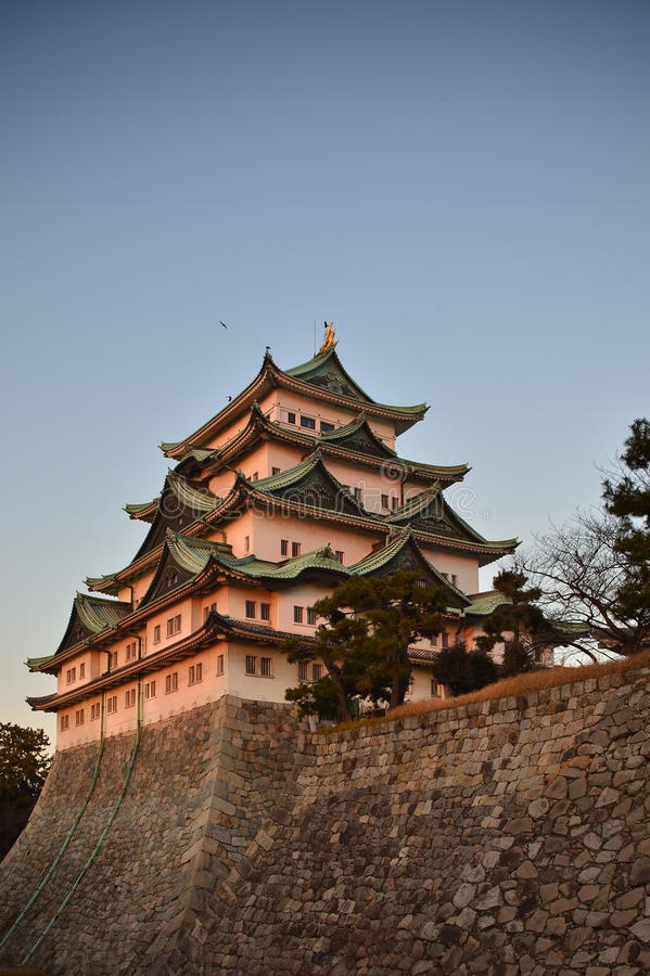 Nagoya Castle. Is a Japanese castle located in Nagoya, central Japan. During the Edo period,  was the center of one of the most important castle towns in Japan royalty free stock photography