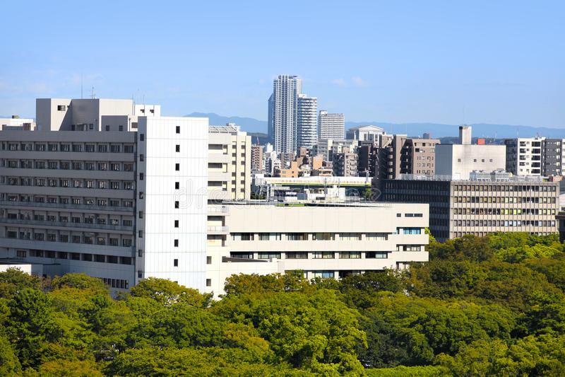Nagoya city scape in Japan. NAGOYA,JAPAN -SEPTEMBER 13: Nagoya cityscape on September 13,2014, Is third largest metropolitan area in Japan, Area`s population is royalty free stock image