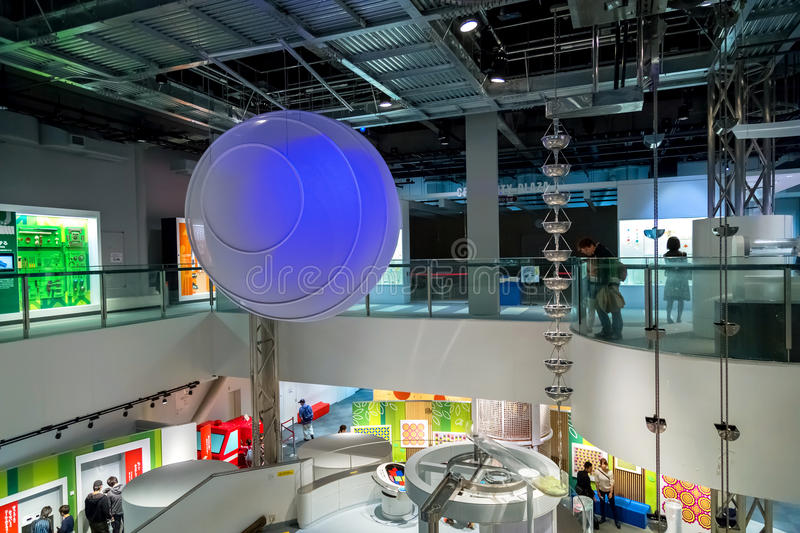 Nagoya City Science Museum. NAGOYA, JAPAN - NOVEMBER 18, 2015: Nagoya City Science Museum houses the largest planetarium in the world, it portrays life sciences stock photography