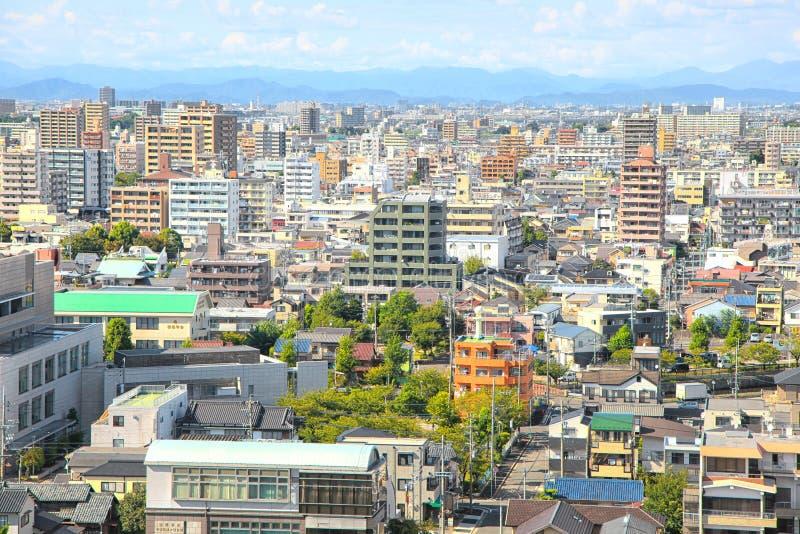 Nagoya cityscape in Japan. NAGOYA,JAPAN -SEPTEMBER 13: Nagoya cityscape on September 13,2014, Is third largest metropolitan area in Japan, Area`s population is stock photo