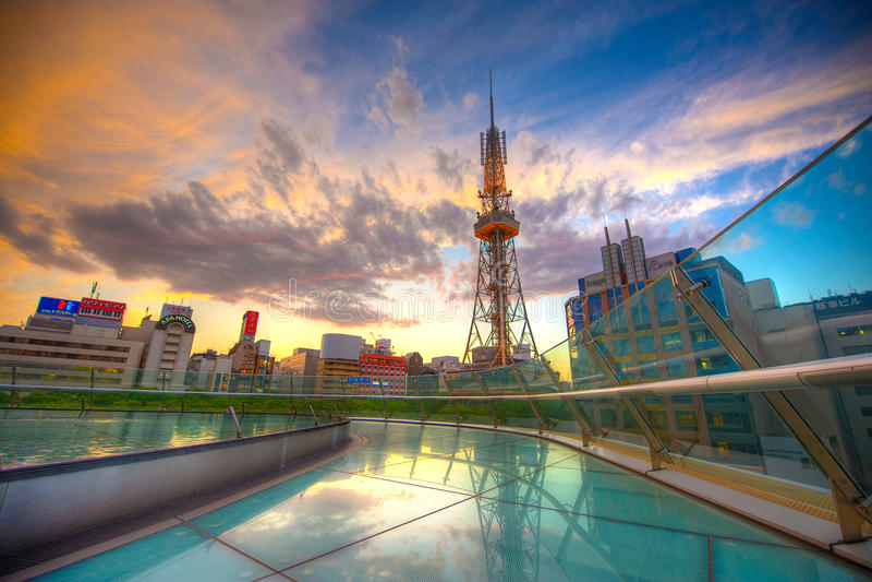 Nagoya Fernsehkontrollturm 01 stockbilder