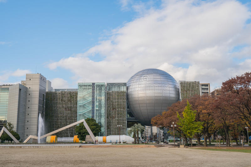 NAGOYA, JAPÃO - 24 DE NOVEMBRO DE 2016: A ciência Museu da cidade de Nagoya imagens de stock