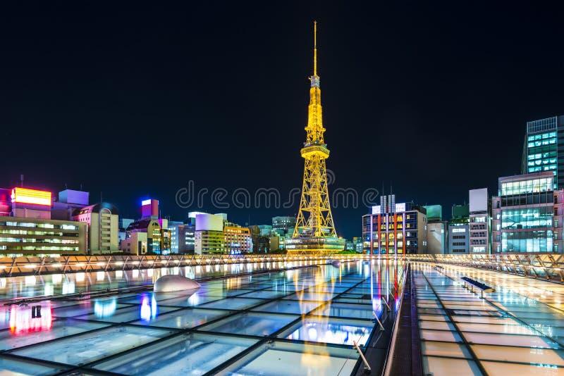 Nagoya, Japan. City skyline with Nagoya Tower royalty free stock photos
