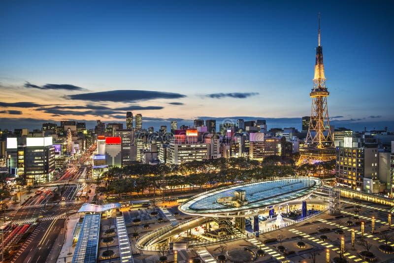 Nagoya, Japan. City skyline with Nagoya Tower stock photos