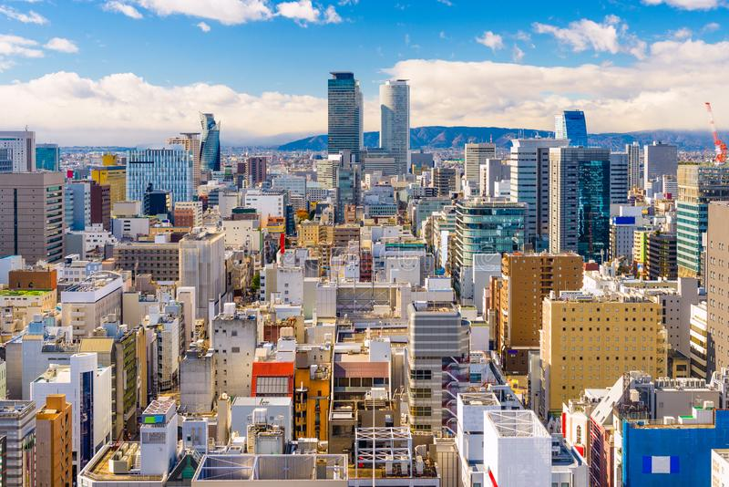Nagoya, Japan Aerial Cityscape. Nagoya, Japan downtown cityscape from above in the day royalty free stock images