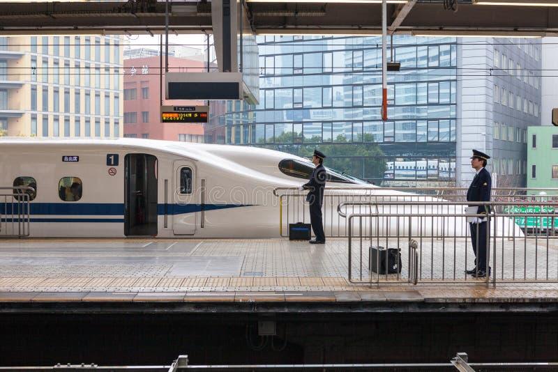 Nagoya, Japan - April 1.2015: De N700A-Reeks Nozomi stock foto's